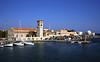 Mandraki harbour Rhodes Greece
