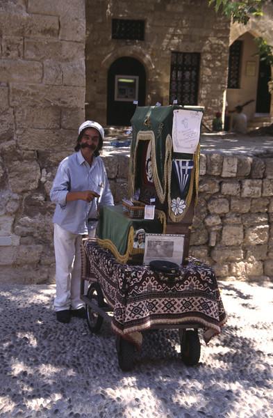 Street organist Rhodes City Old Town