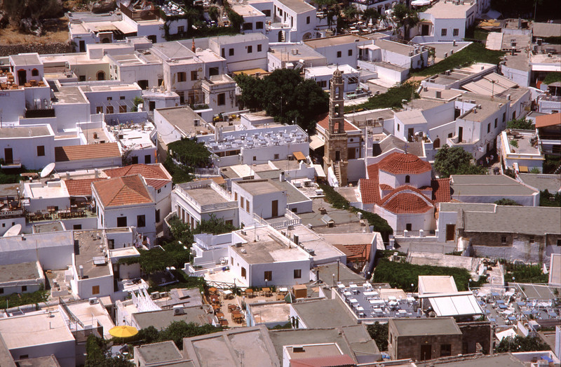 Lindos rooftops Rhodes Greece
