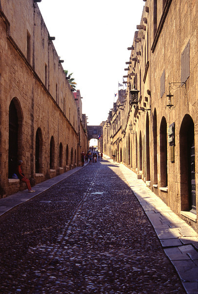 Ippoton Street Rhodes City Old Town