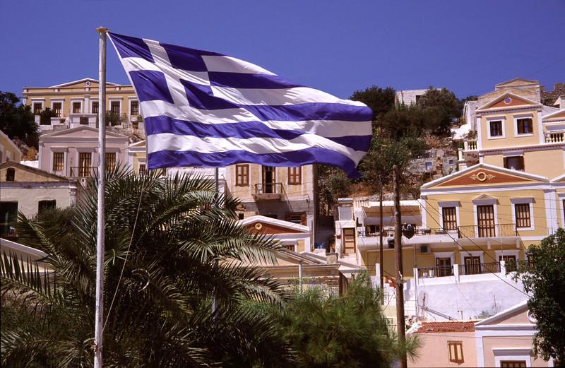 Greek flag Symi