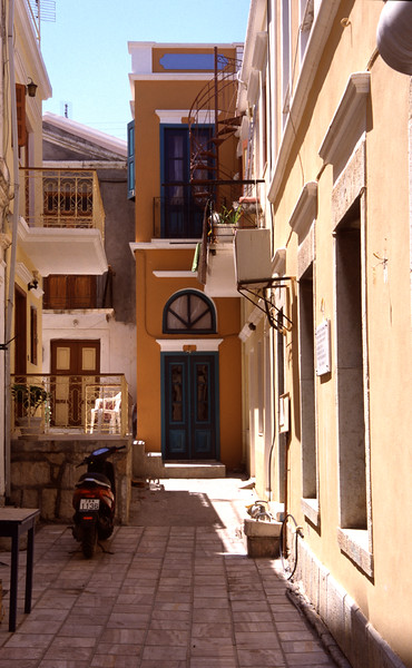 Back alley Symi Town Greece