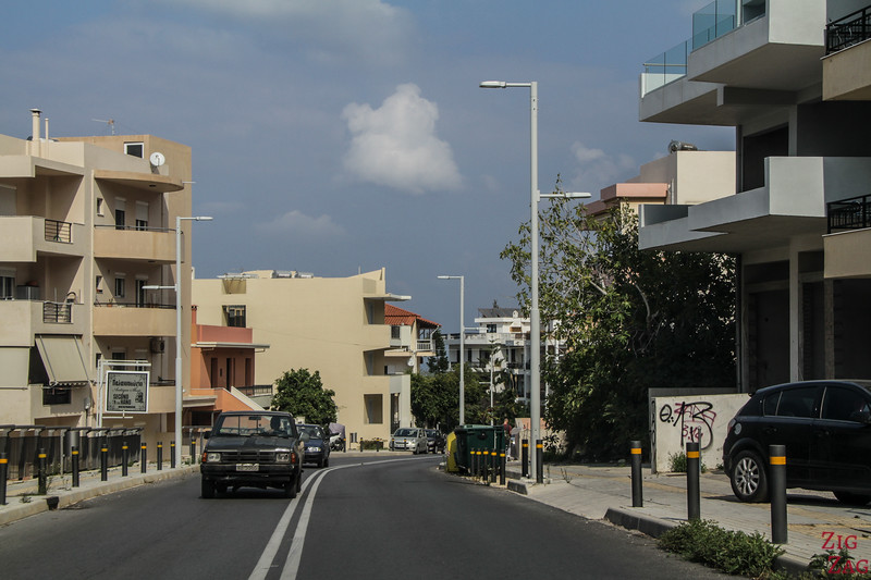 Driving in Rethymno Crete