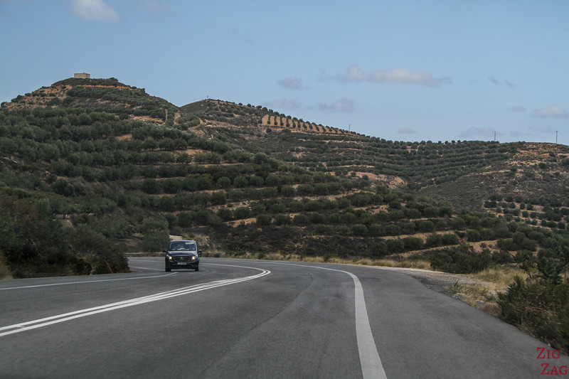 high speed roads in Crete