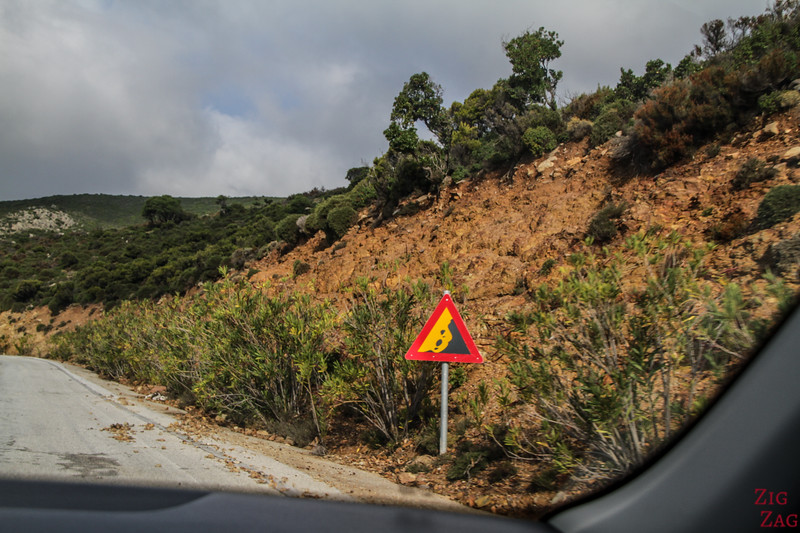 Dangers on the Cretan roads - rocks