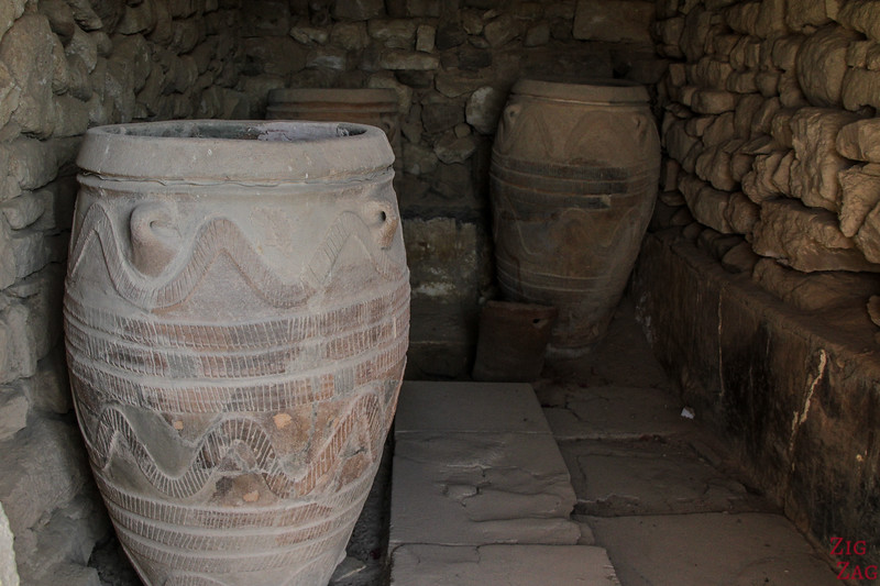 Phaistos Palace Crete - potteries