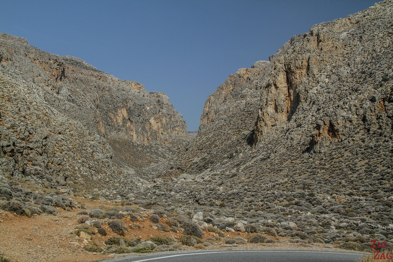 Xerokampos Gorge Crete entrance