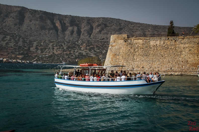 How to get to Spinalonga island from Plaka