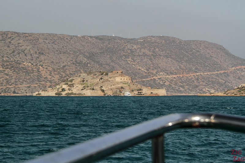 Arriving at Spinalonga