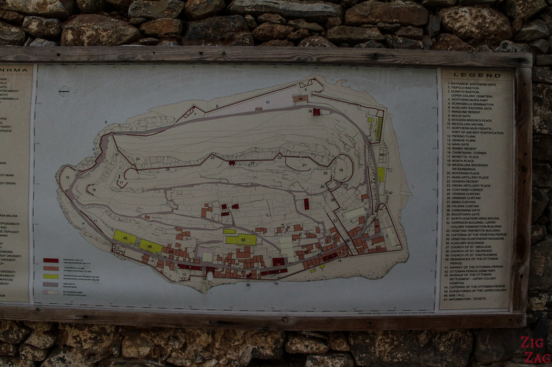 Map Spinalonga settlement