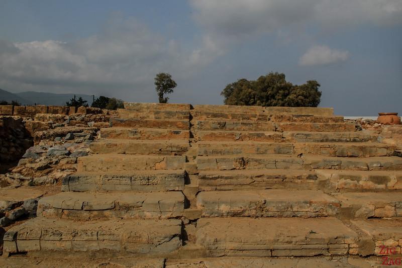 Points d'intérêt du site archéologique de Malia - escalier