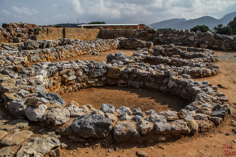 Points of Interest of the archaeological site of Malia - kouloures