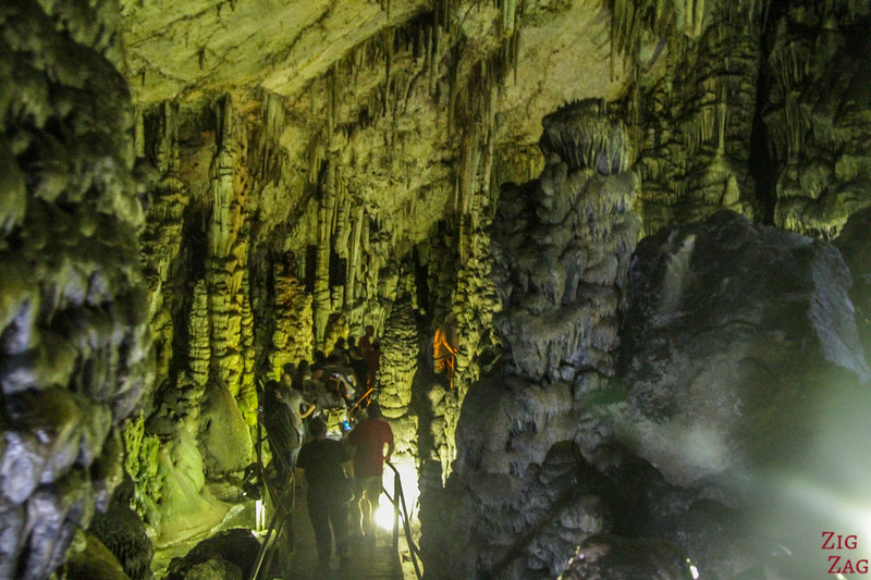 Formations in the Zeus cave's chamber 1
