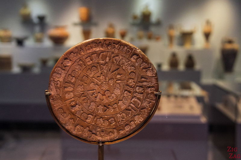 Phaistos disc at Heraklion archaeological museum