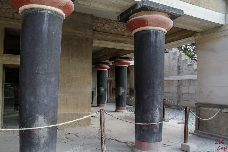 palace of Knossos architecture - Hall of Double Axes