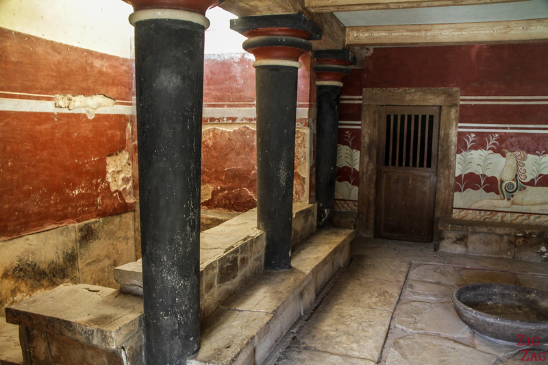 Archaeological site Knossos Crete