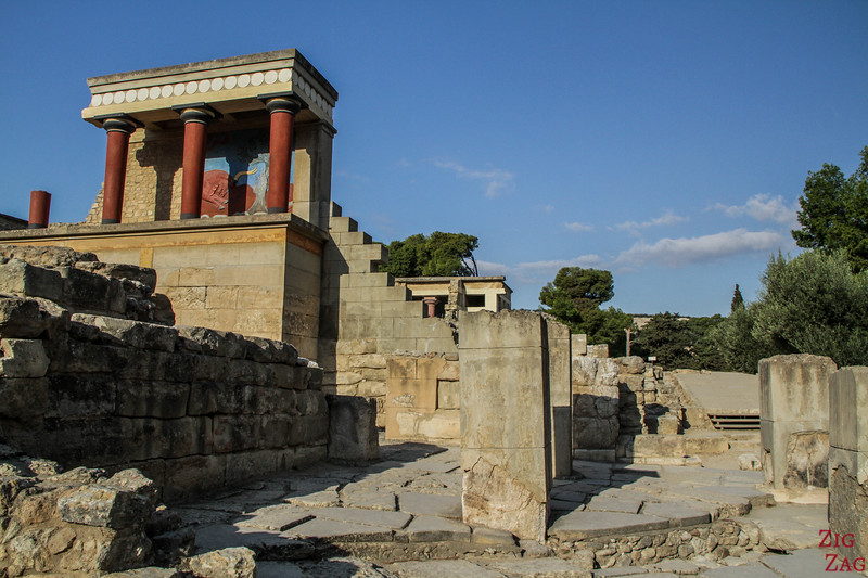 palace of Knossos architecture - North Pillar hall bastion