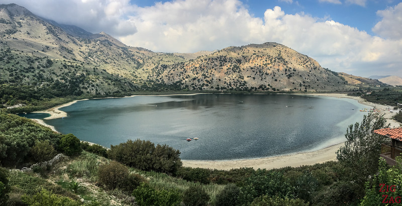 Lake Kournas beach - Most scenic beaches in Crete