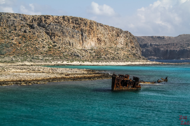 Gramvousa island Crete photo 2 shipwreck