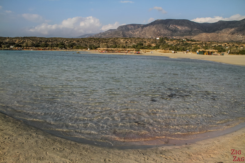 pink sand beach - best beaches in Crete