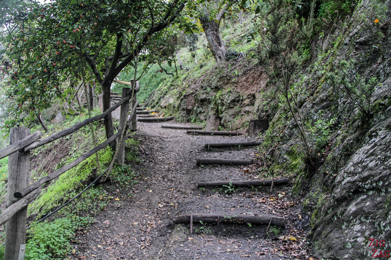 How difficult is the visit of the Crete Botanical Garden - walk uphill