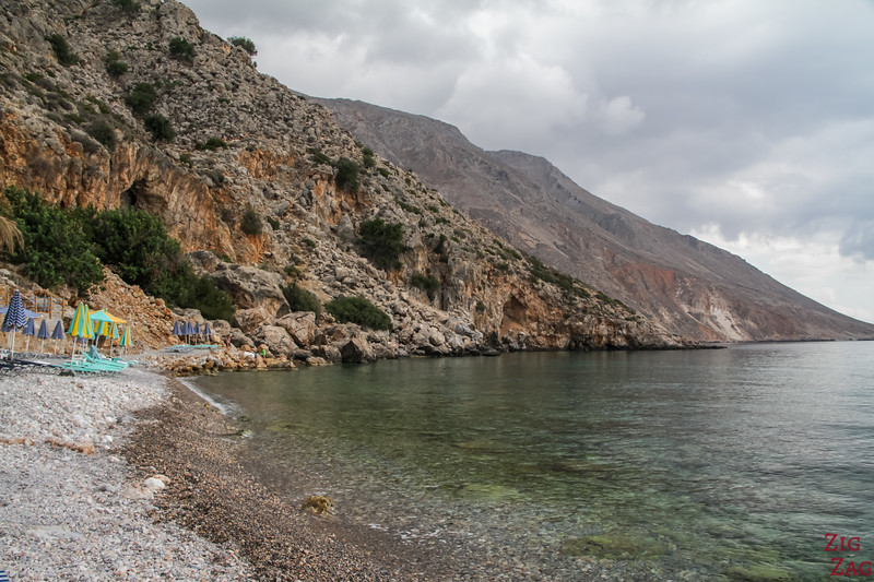 Loutro beaches - end of village 1