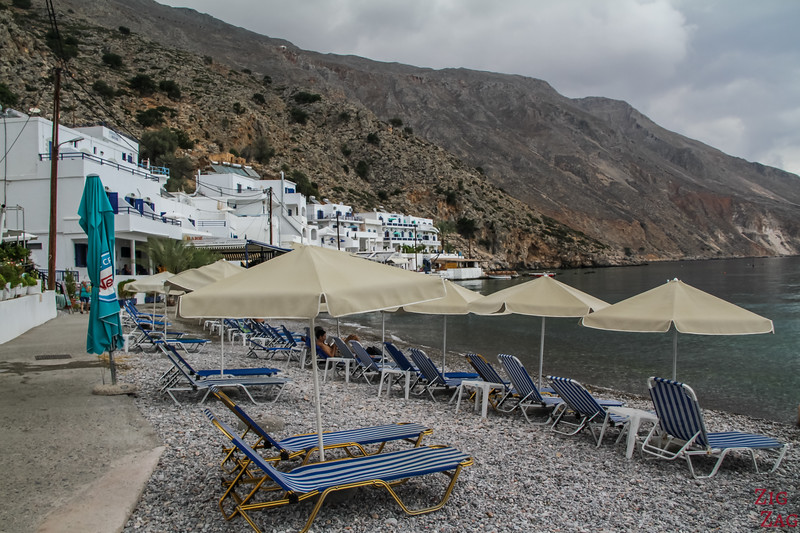 Loutro beaches - middle of village 1