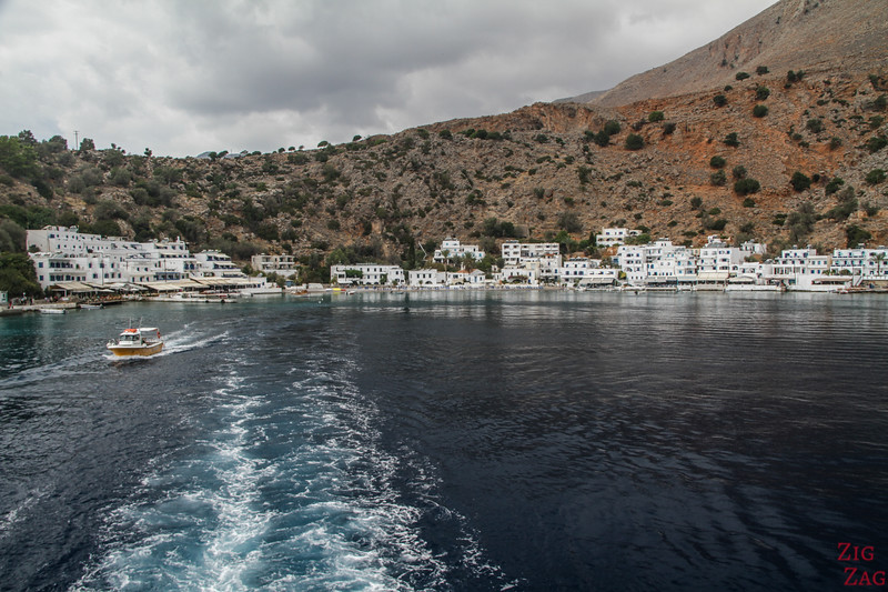 Ferry from Hora Skafion to Loutro village
