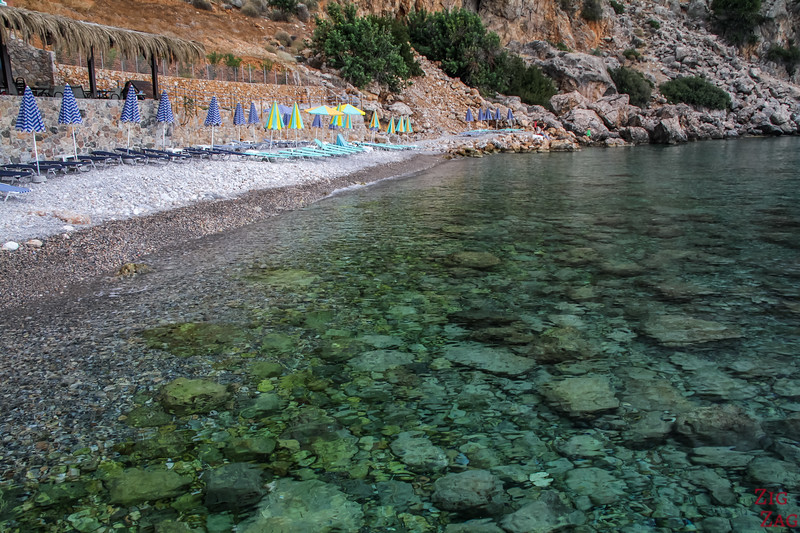 Loutro beaches - end of village 2