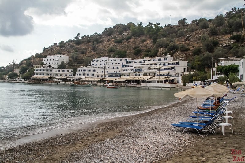 Loutro beaches - middle of village 2