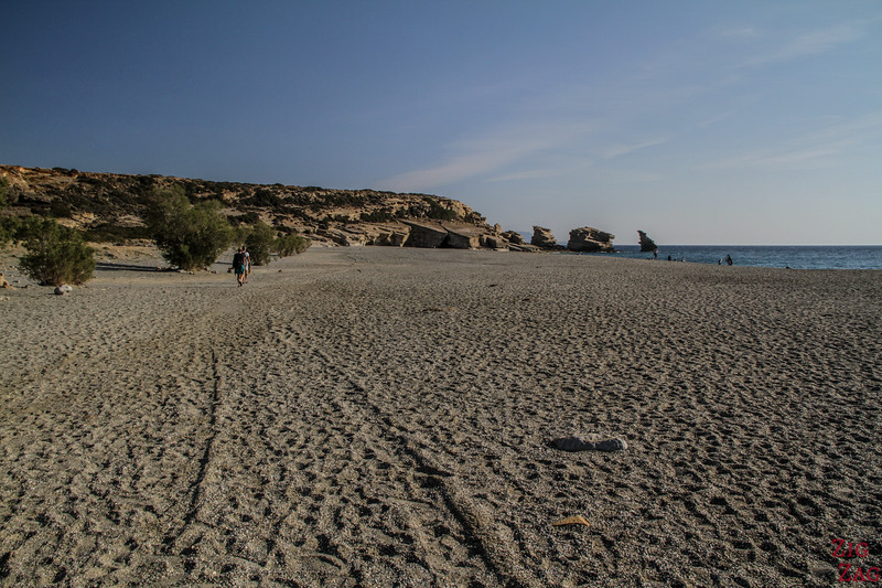 Triopetra Beach with small pebbles