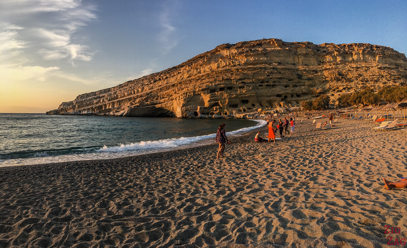 Best things to do in Crete - Matala sunset