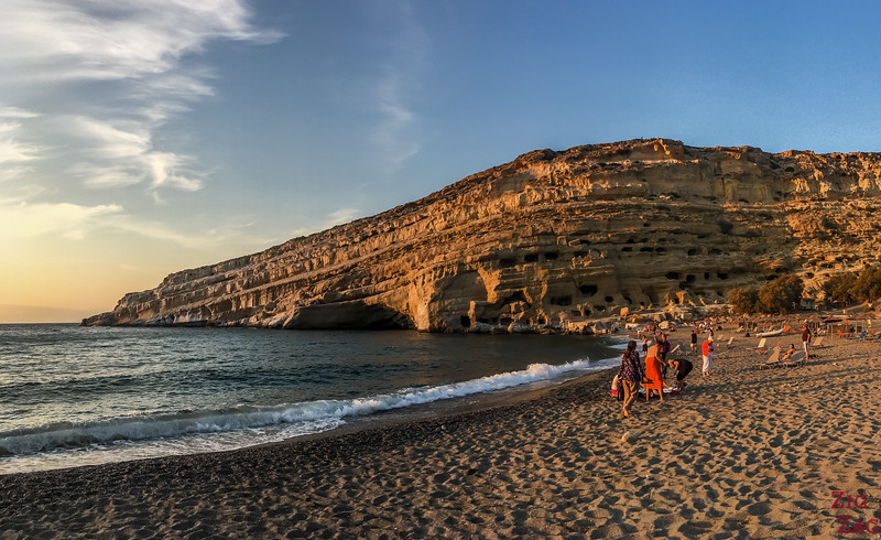 Matala beach - best beaches in Crete
