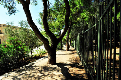 Pedestrian walkway outside the Acropolis.
