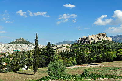Lykavittos Hill and the Acropolis.