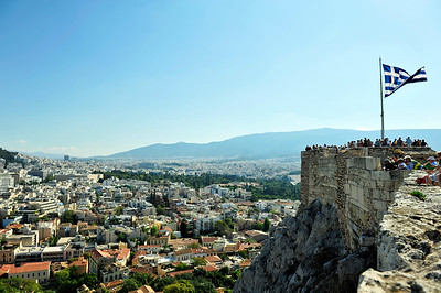 Overlooking the Plaka - the oldest part of Athens sitting just below the Acropolis.
