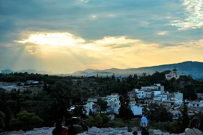 Areopagus Hill at dusk.