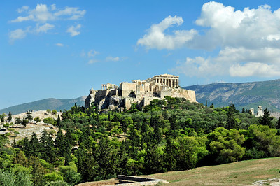 Filopappos Hill, Athens, Greece.