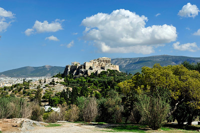The Acropolis viewed from Filopappos Hill.