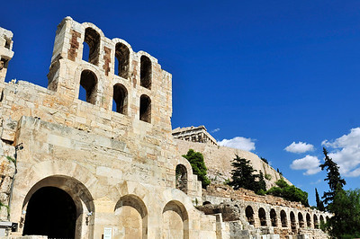 Outside of the Herodes Atticus Theater. Acropolis - Athens, Greece.