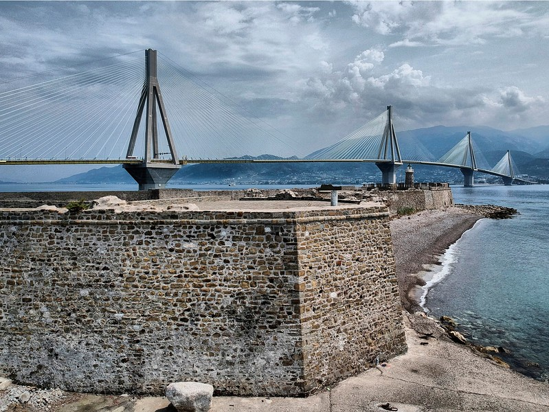 Antirio Fortress and Rio-Antirio bridge