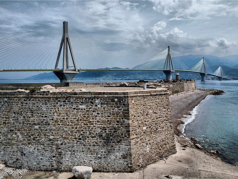 Antirio Fortress and Rio-Antirio bridge
