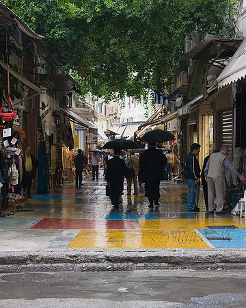 A rainy day in the Plaka