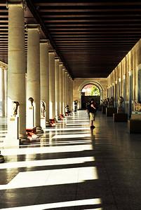 The exterior halls of the Stoa of Attalos.