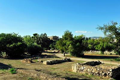 Hephaisteion, a Doric temple.