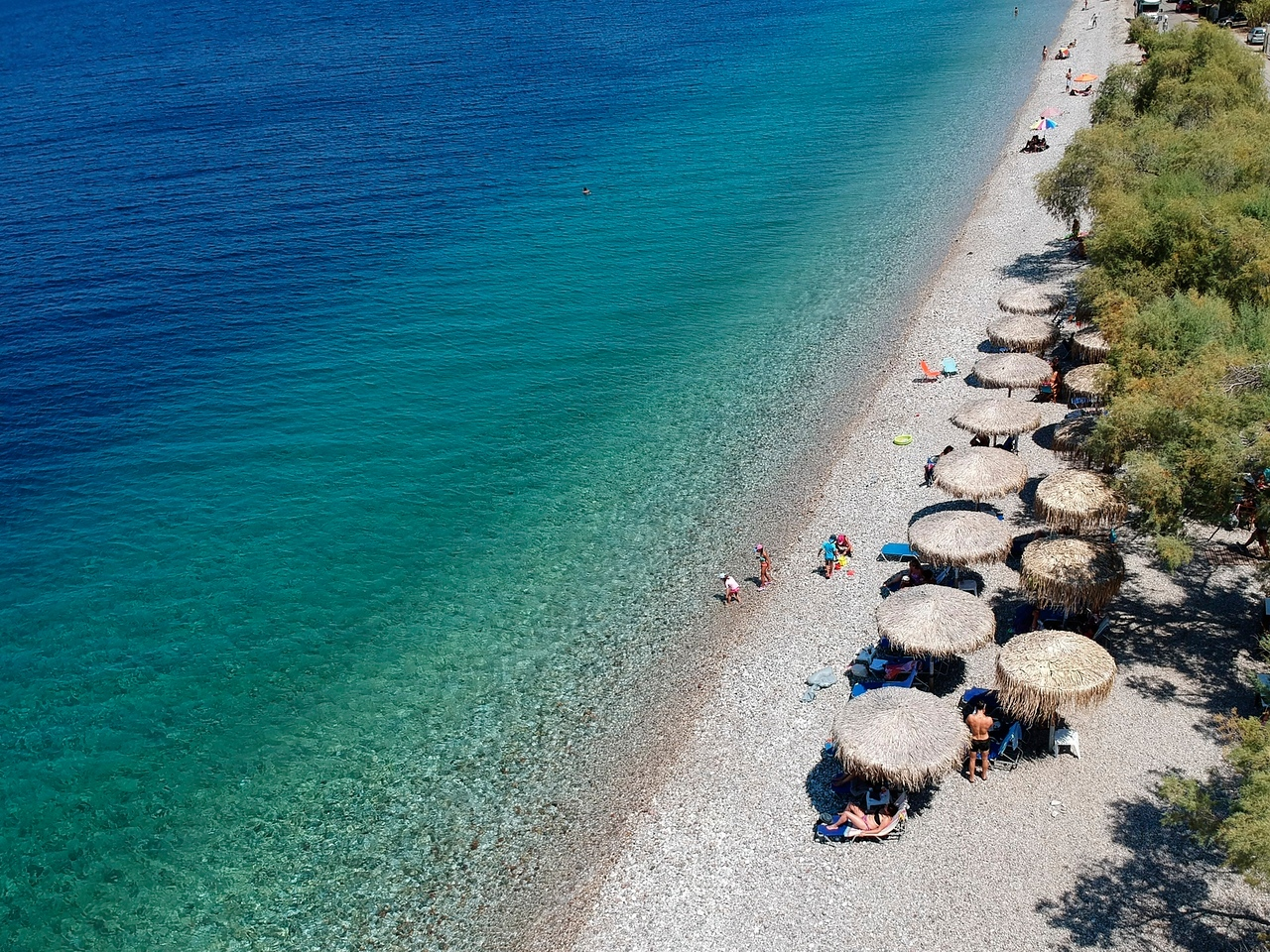 Pounta Beach at Trapeza,Peloponese,Greece