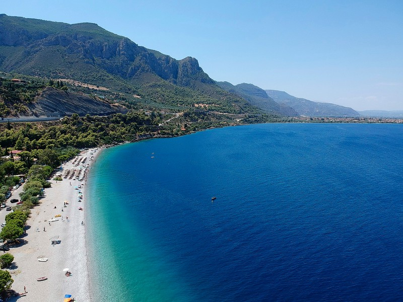 Pounta Beach at Trapeza,Peloponese, Greece