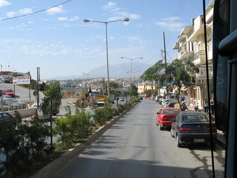 By bus to Rythnnon, west of Heraklion