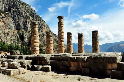 The Temple of Apollo - originated around the 7th century BC.