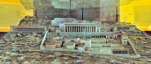 Scale model of the Sanctuary of Apollo.